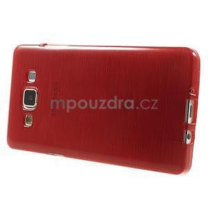 Broušený gelový obal Samsung Galaxy A5 - červený - 5