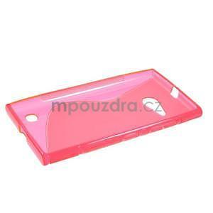 Gelový s-line obal na Nokia Lumia 730 a Lumia 735 - růžový - 5