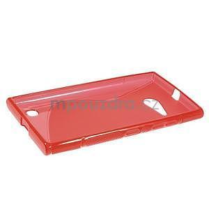 Gelový s-line obal na Nokia Lumia 730 a Lumia 735 - červený - 5