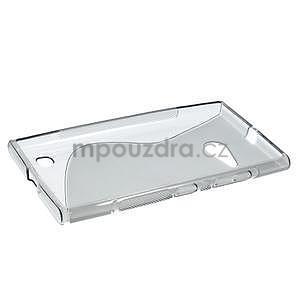 Gelový s-line obal na Nokia Lumia 730 a Lumia 735 - šedý - 5