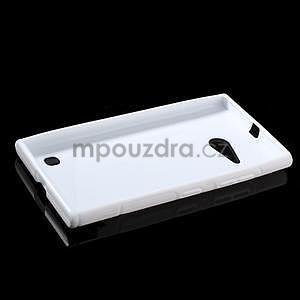 Gelový s-line obal na Nokia Lumia 730 a Lumia 735 - bílý - 5
