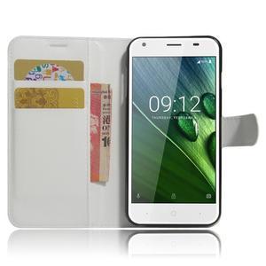 Wallet PU kožené klopové pouzdro na Acer Liquid Z6 - bílé - 5