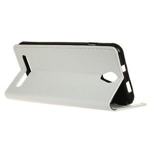 Lethy PU kožené pouzdro na mobil Acer Liquid Z6 - bílé - 5