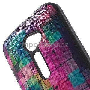 Gelový obal s imitací vroubkované kůže na Asus Zenfone 2 ZE500CL - mozaika barev - 5