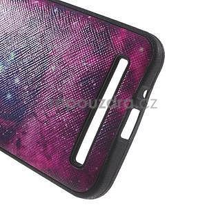 Gelový obal s imitací vroubkované kůže na Asus Zenfone 2 ZE500CL - galaxy - 5