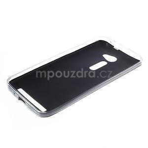 Gelový kryt s imitací kůže Asus Zenfone 2 ZE500CL - černý - 5