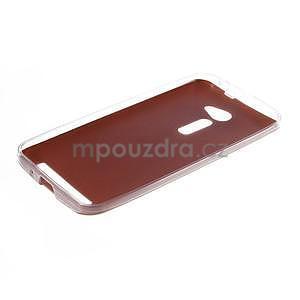 Gelový kryt s imitací kůže Asus Zenfone 2 ZE500CL - champagne - 5