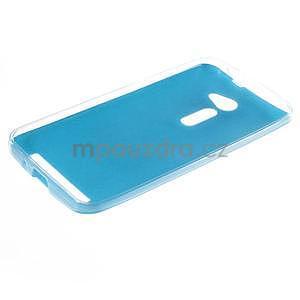 Gelový kryt s imitací kůže Asus Zenfone 2 ZE500CL - modrý - 5