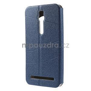 Modré klopové pouzdro s okýnkem na Asus Zenfone 2 ZE551ML - 5
