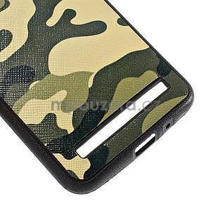 Gelový kryt s imitací vroubkované kůže pro Asus Zenfone 2 ZE551ML - vojenský - 5