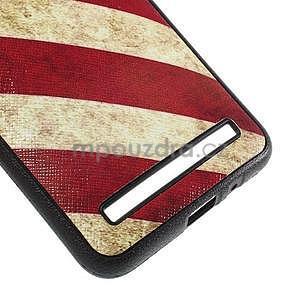 Gelový kryt s imitací vroubkované kůže pro Asus Zenfone 2 ZE551ML - vlajka USA - 5