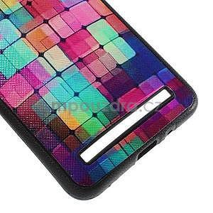 Gelový kryt s imitací vroubkované kůže pro Asus Zenfone 2 ZE551ML - mozaika barev - 5