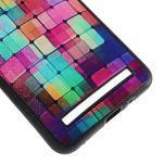 Gelový kryt s imitací vroubkované kůže pro Asus Zenfone 2 ZE551ML - mozaika barev - 5/5