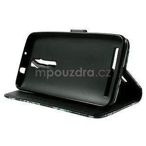 Zapínací peněženkové pouzdro na Asus Zenfone 2 ZE551ML - modrý motýl - 5
