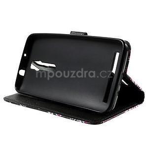 Zapínací peněženkové pouzdro na Asus Zenfone 2 ZE551ML - motýlci - 5