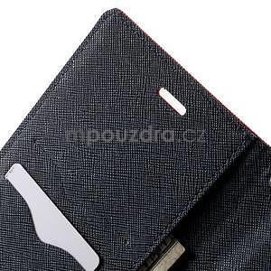 Zapínací PU kožené pouzdro na Asus Zenfone 2 ZE551ML - červené - 5