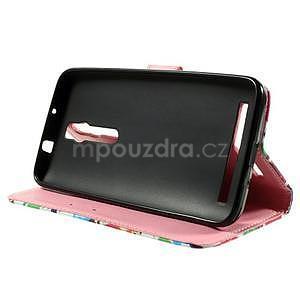 Zapínací peněženkové pouzdro na Asus Zenfone 2 ZE551ML - sovičky - 5