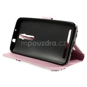 Zapínací peněženkové pouzdro na Asus Zenfone 2 ZE551ML - květiny - 5