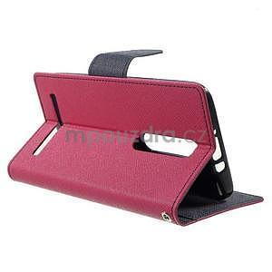 Zapínací PU kožené pouzdro na Asus Zenfone 2 ZE551ML - rose - 5