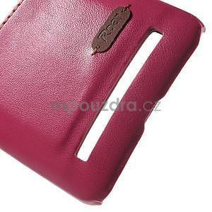 Rose PU kožený/plastový kryt na Asus Zenfone 2 ZE551ML - 5