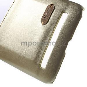 Champagne PU kožený/plastový kryt na Asus Zenfone 2 ZE551ML - 5