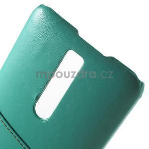 Azurový PU kožený/plastový kryt na Asus Zenfone 2 ZE551ML - 5