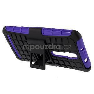 Vysoce odolný gelový kryt se stojánkem pro Asus Zenefone 2 ZE551ML - fialový - 5