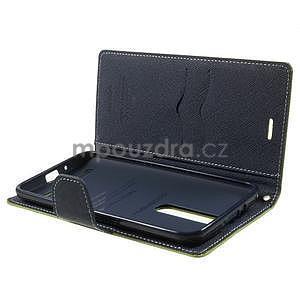Zapínací PU kožené pouzdro na Asus Zenfone 2 ZE551ML - zelené - 5