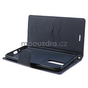 Zapínací PU kožené pouzdro na Asus Zenfone 2 ZE551ML - fialové - 5