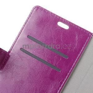 Crazy PU kožené pouzdro na mobil Asus Zenfone 4 Selfie Pro ZD552KL - fialové - 5