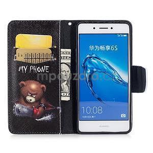 Emotive peněženkové pouzdro na mobil Huawei Nova Smart - nešahat - 5