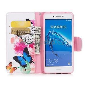 Emotive peněženkové pouzdro na mobil Huawei Nova Smart - motýlci - 5