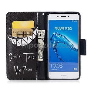 Emotive peněženkové pouzdro na mobil Huawei Nova Smart - nedotýkat se - 5