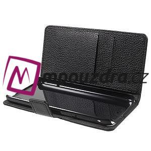 Peněženkové PU kožené pouzdro na HTC Desire 530 a Desire 630 - černé - 5