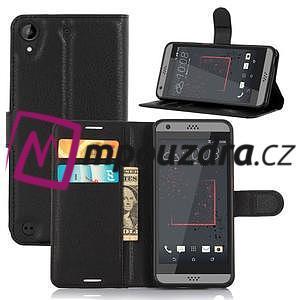 Wally PU kožené pouzdro na mobil HTC Desire 530 a Desire 630 - černé - 5