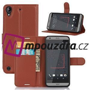 Wally PU kožené pouzdro na mobil HTC Desire 530 a Desire 630 - hnědé - 5