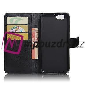 Graines PU kožené puzdro pre HTC One A9s - čierné - 5