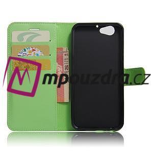 Graines PU kožené puzdro pre HTC One A9s - zelené - 5