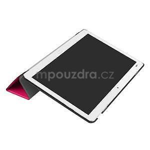 Trifold polohovatelné PU kožené pouzdro na Huawei MediaPad M3 Lite 10 - rose - 5