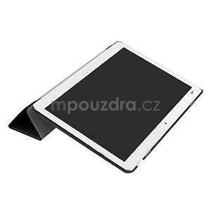 Trifold polohovatelné PU kožené pouzdro na Huawei MediaPad M3 Lite 10 - černé - 5