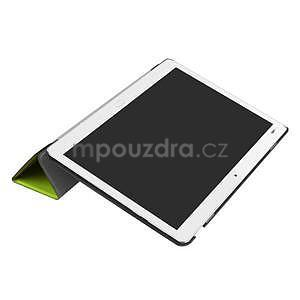 Trifold polohovatelné PU kožené pouzdro na Huawei MediaPad M3 Lite 10 - zelené - 5