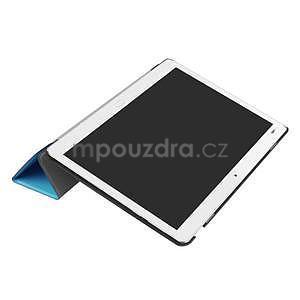Trifold polohovatelné PU kožené pouzdro na Huawei MediaPad M3 Lite 10 - světlemodré - 5