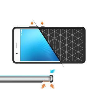 Carbo odolný gelový obal s broušenými zády na Huawei P9 Lite - tmavěmodrý - 5