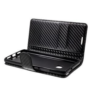 Carbon PU kožené pouzdro na Huawei P9 Lite - černé - 5