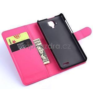 Elegantní PU kožené pouzdro na mobil Lenovo A536 - rose - 5