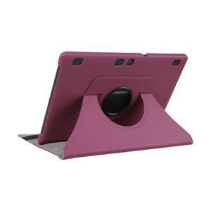 Otočné PU kožené pouzdro na Lenovo Tab 3 10 Plus - fialové - 5