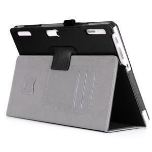 Safe PU kožené pouzdro na Lenovo Tab 3 10 Plus / Business - černé - 5