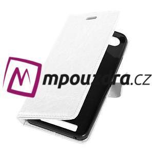 Fashion PU kožené pouzdro na mobil Lenovo Vibe C A2020 - bílé - 5