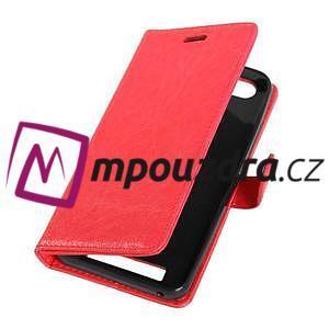 Fashion PU kožené pouzdro na mobil Lenovo Vibe C A2020 - červené - 5