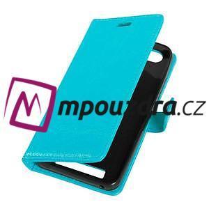 Fashion PU kožené pouzdro na mobil Lenovo Vibe C A2020 - modré - 5